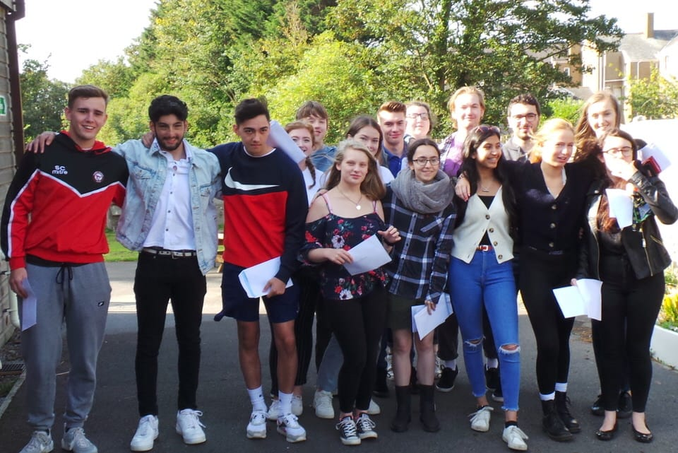 Sixth Form boys and girls celebrate their A-Level results